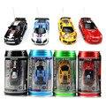 1 pc Mini RC Car Crianças Toy Presente de Natal de Alta Velocidade coca-cola Pode Carro de Controle Remoto 1: 63 Modelo de Corrida Automóvel Livre grátis