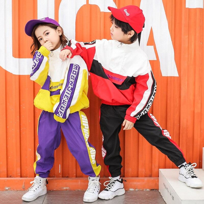 Nouveau jeu de danse de rue garçons Costumes Hip Hop Costumes de danse de Jazz enfants vêtements de danse de rue Costumes de Performance d'automne