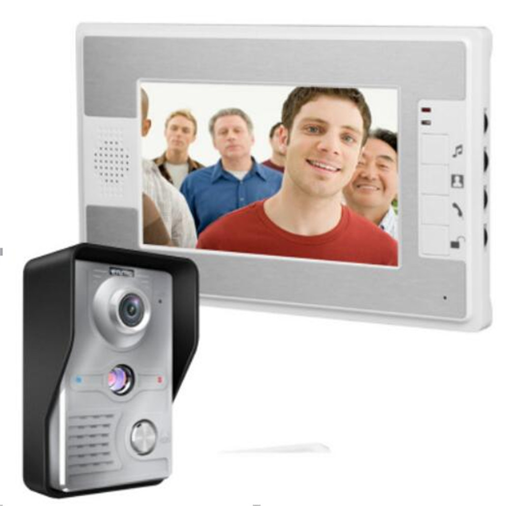 7 Inch 700TVL 4 Cord Wired Intercom Video Door Phone