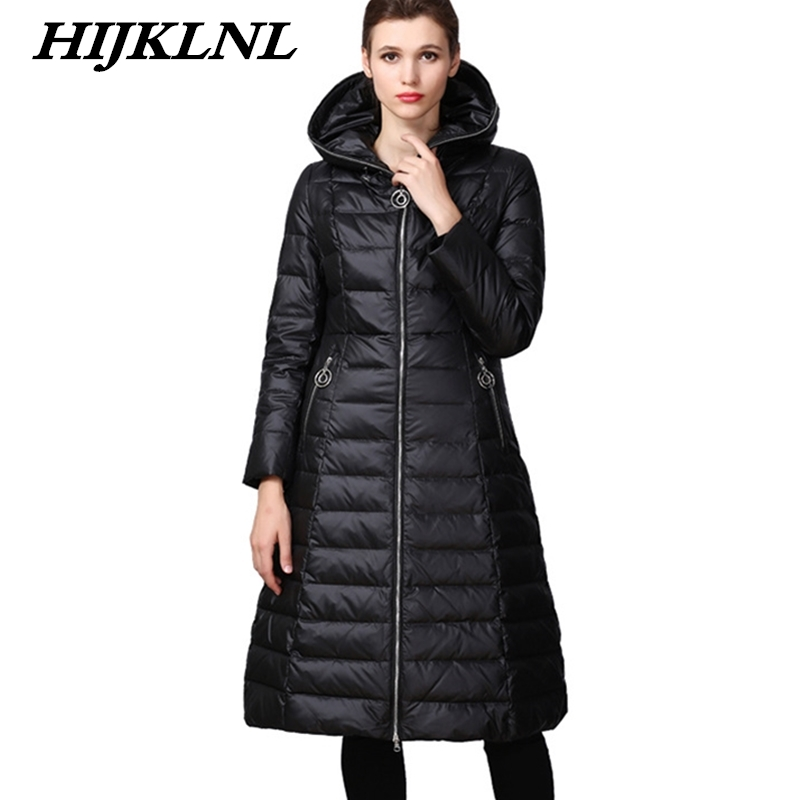 2019 New Women Winter   Down     Coat   Loose Large Size Hooded Solid Long   Down   Jacket Women Thicken   Coat   Fashion Warm Outerwear CW076