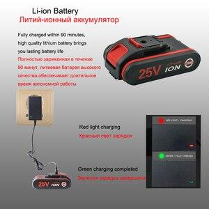 Image 4 - 25V wiertarka elektryczna Home wielofunkcyjny elektryczny śrubokręt akumulator elektryczny wiertarka litowa + 2 akcesoria