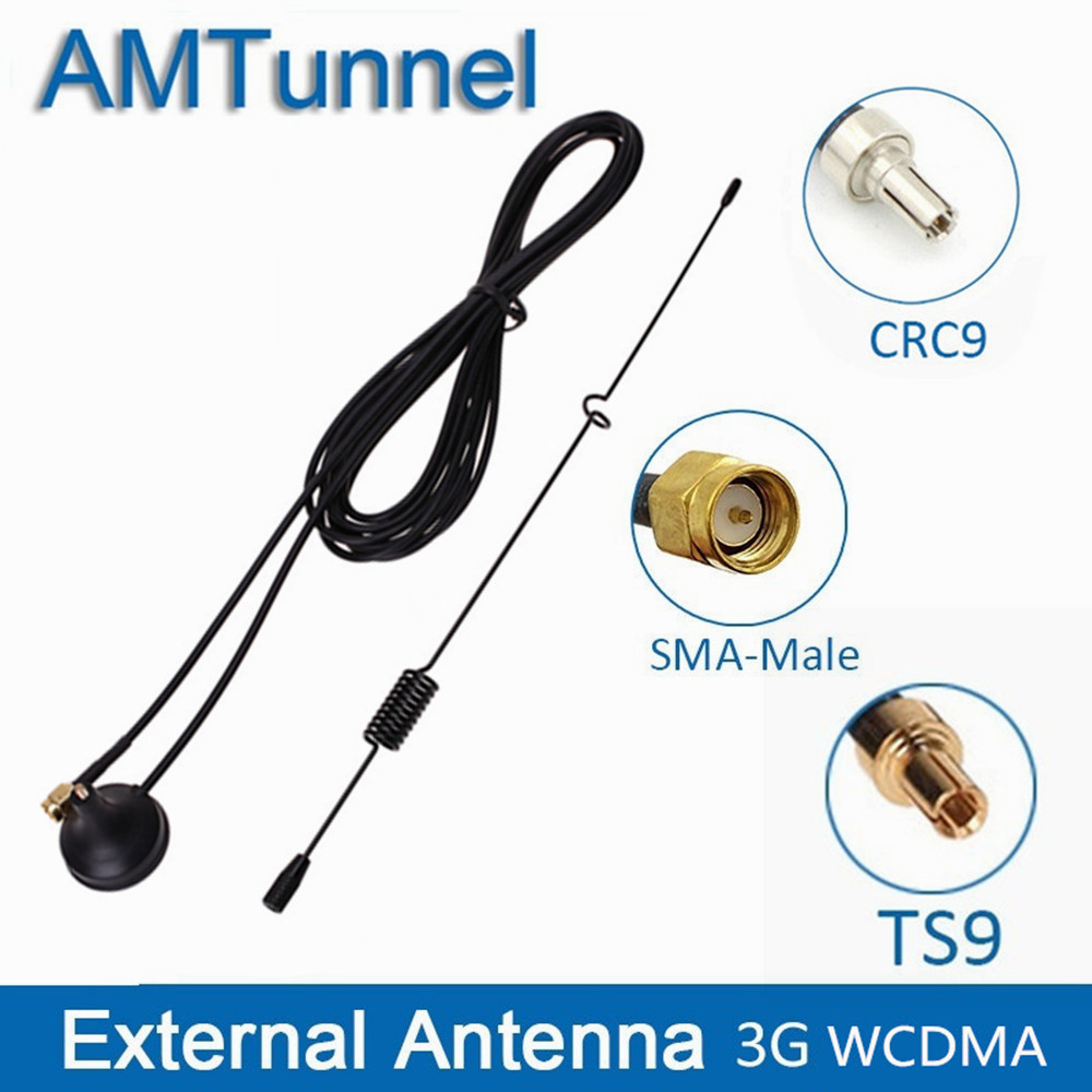 3G Antenna 7dBi Modem External Antenna 1920-2170Mhz SMA CRC9 TS9 Connector With 3M Cable For Huawei ZTE Router USB Dongle