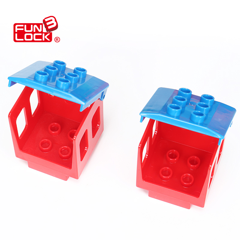 Single Coach Train Duplo Railway Block Assembling Parts Gift