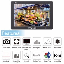 цена на Feelworld T7 7 Inch IPS 4K HDMI Monitor 1920x1200 Solid Aluminum Housing On-Camera Field Monitor with Peaking Focus False Colors