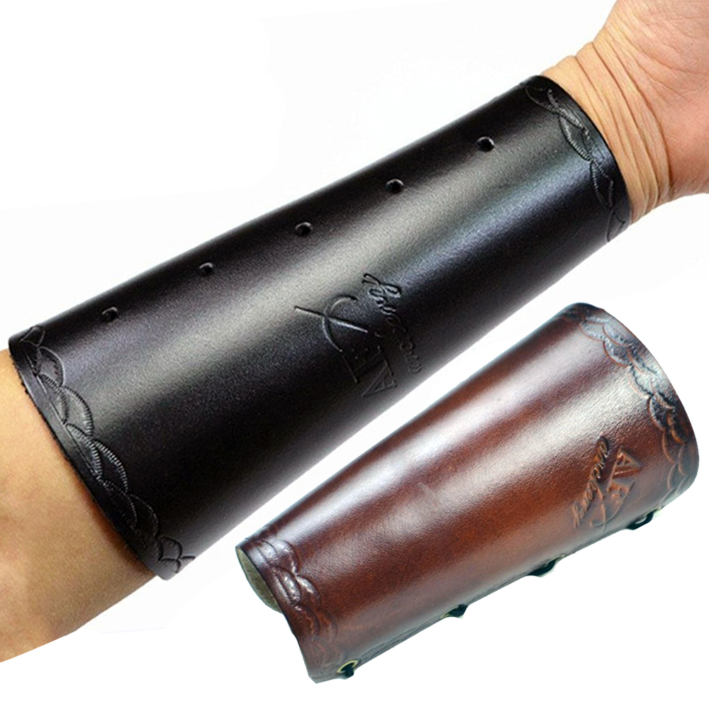Leather Archery Protector Archery Arm Guard Protection For Shooting Accessory Traditional  Compound Bow