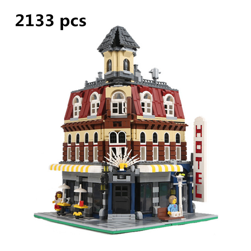 New 2133Pcs LEPIN 15002 Cafe Corner Model Building Kits Blocks Kid Toy Gift Compatible With 10182 For Children Palace Base new lepin 16009 1151pcs queen anne s revenge pirates of the caribbean building blocks set compatible legoed with 4195 children