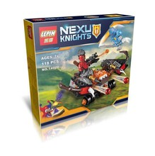 New LEPIN 14020 118Pcs Nexoe Knights The Glob Lobber Model Building Kits Minifigure Blocks Bricks Toy Gift Compatible