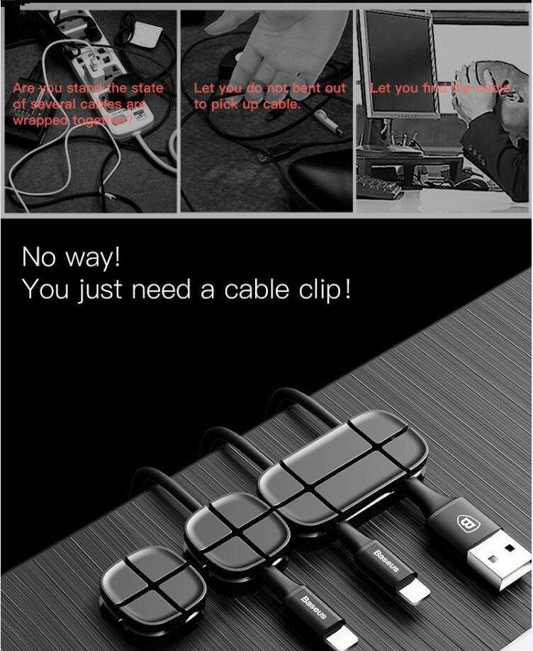 Baseus Cross Peas Cable Clip 3