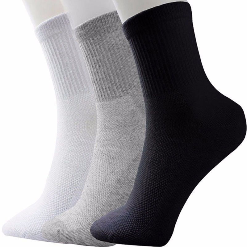 High Quality Casual Men's Business Socks For Men Soft Cotton Breathable Black White Grey Socks Meias Homens Medium Size X7-M2