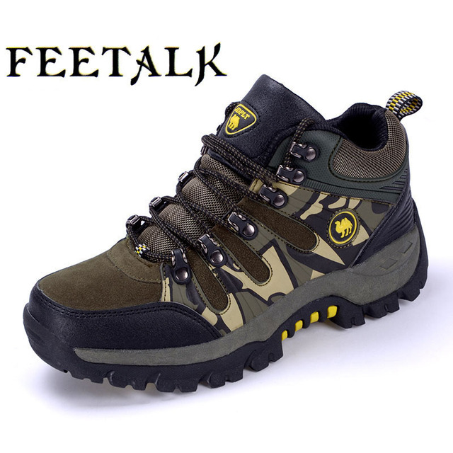 Mens / Damen Leder Wanderschuhe Herbst und Winter wasserdicht rutschfeste Trekking Schuhe langlebig und bequem zu tragen , gray , 40