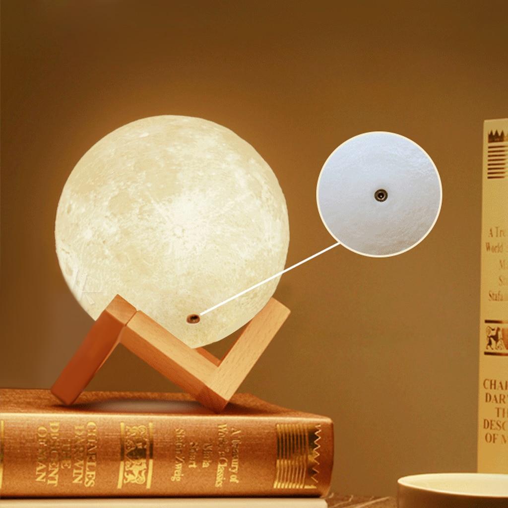 LED Luna 3D Magical Night Light Moon Lamp Desk USB Charging Touch Control Home Decor