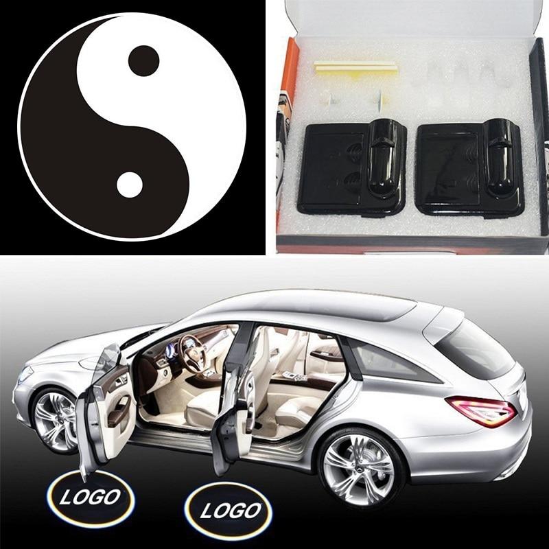 2PCS/Set Car Door Projector Lights Battery Wireles...
