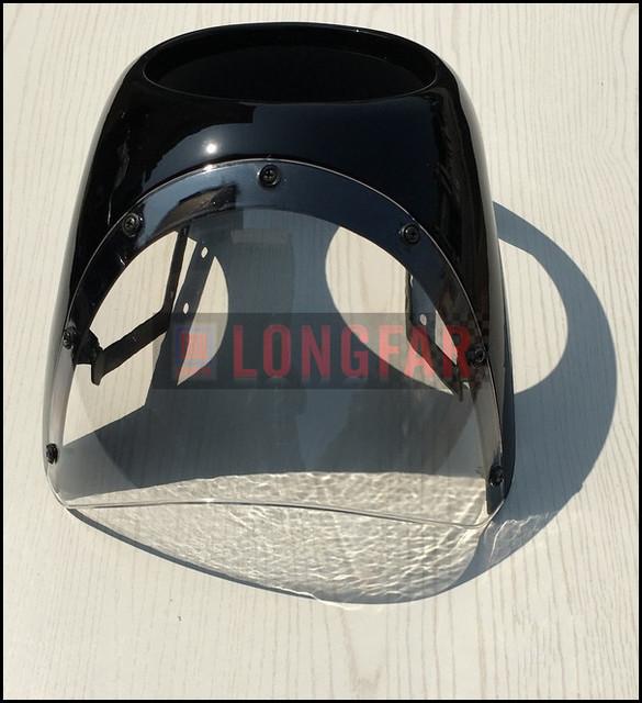 FRETE GRÁTIS: 16-18 CM Cafe Cafe Racer racer carenagem carenagem Do Farol da motocicleta Retro capô modificado Motocicleta Do Vintage