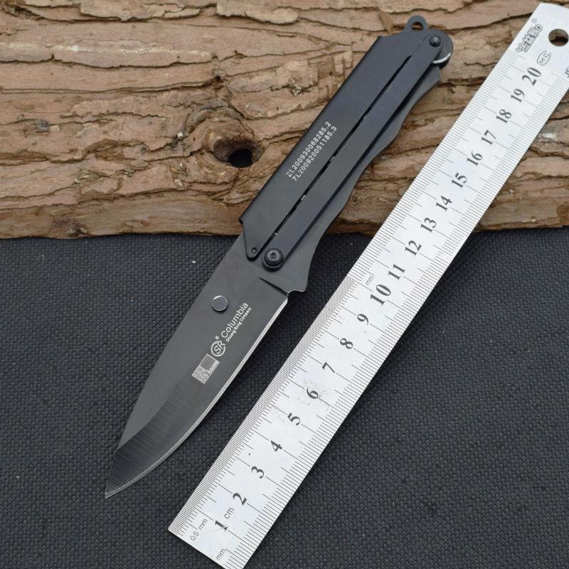 New Survival font b Knife b font 420 Steel Blade Steel Handle SR Pocket Fixed Knifes