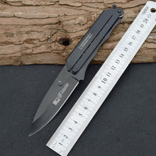 New Survival Knife 420 Steel Blade Steel Handle SR Pocket Fixed Knifes Hunting Tactical Knives Camping Outdoor EDC Tools R24