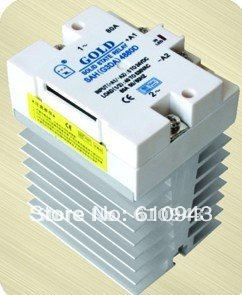 цена на SAH4860D 60A DC to ac Wholesale - AC SSR with Heatsink,solid state relay,ssr,relay,Hight quality ssr