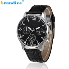 Hcandice Relogio Masculino Retro Design Leather Band Analog Alloy Quartz Wrist Men Watch Fashion Horloge May5