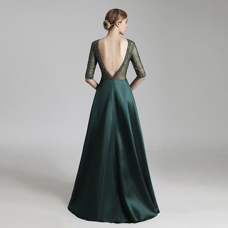 miçangas de luxo vestido de noite sexy