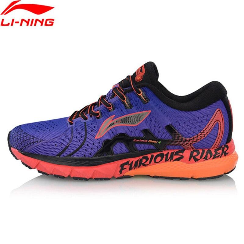 Li Ning Men FURIOUS RIDER 4 Stability Running Shoes Cushion Wearable TUFF OS LiNing Cloud Sport