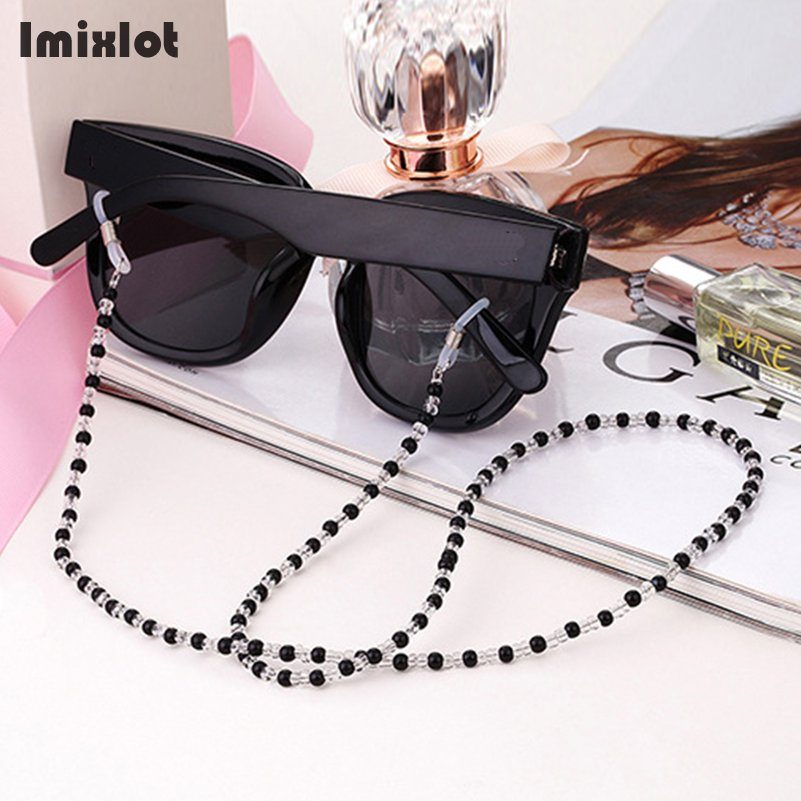 6 Colors Fashion Imitation Pearl Eyewears Chains Acrylic Beaded Eyeglass Sunglasses Reading Glasses Chain Lanyards Cord Holder
