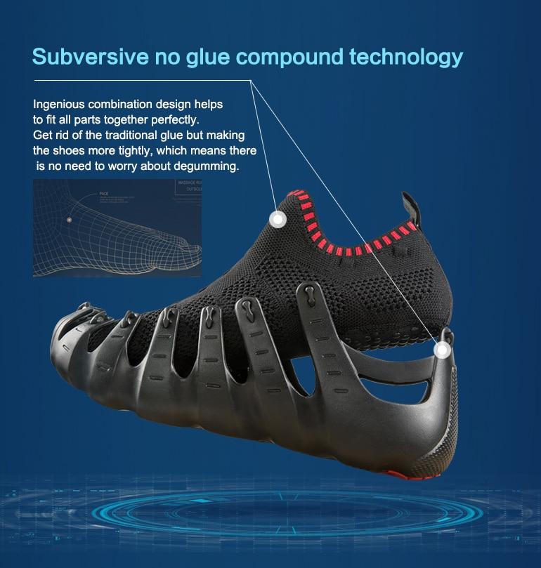 ONEMIX Casual Sneakers zapatos multiusos para Hombre Zapatos Deportivos Unisex zapatillas para correr al aire libre calcetines de Yoga zapatos deportivos - 2