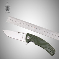 Kizer Bushcraft Knife V4484A2 VG10 Blade Tactical Folding Knives Survival High Quality Hand Tool