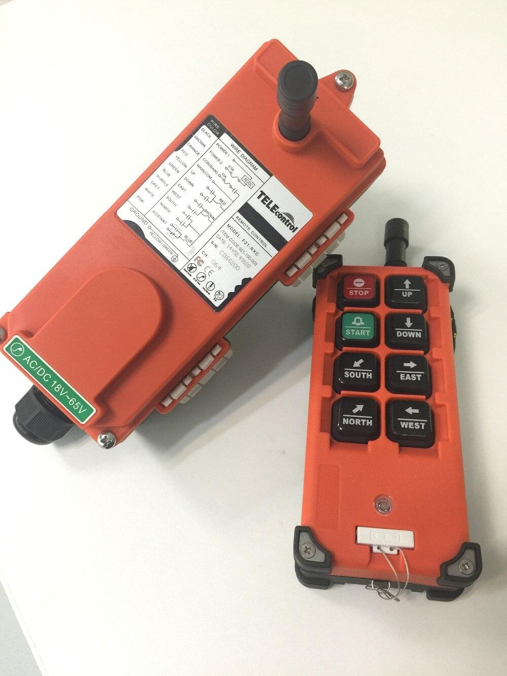 TELEcontrol F21-E1B 1 transmitter 1 receiver 1 Speed Control Hoist Crane Remote Control