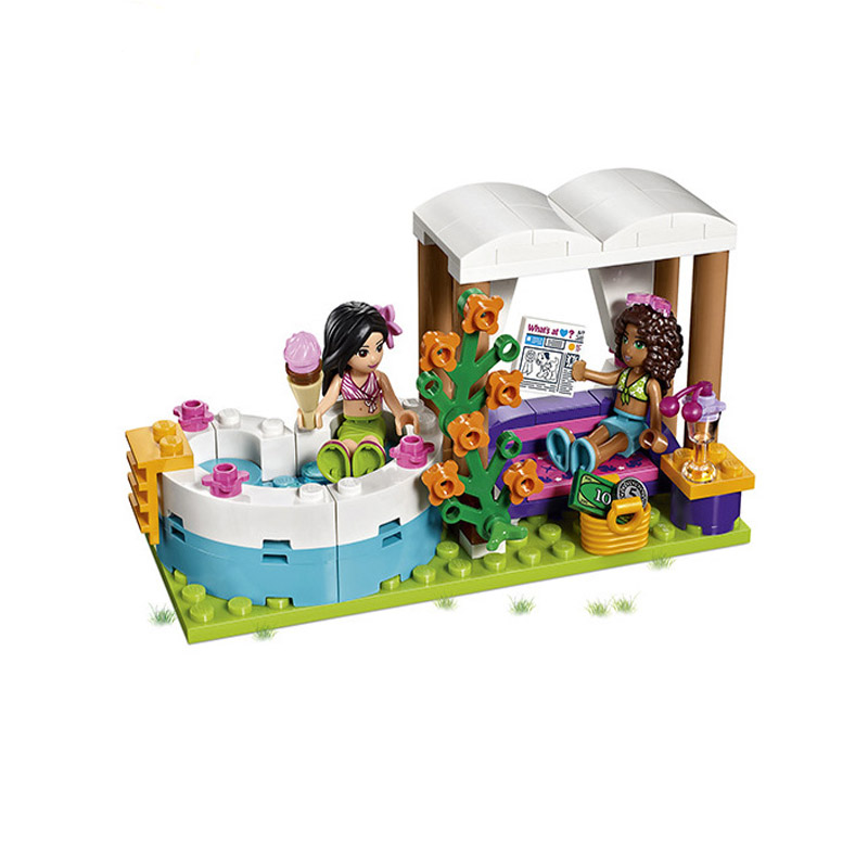 01013 Friends 589 Building Blocks Toy Heart Lake City Summer Pool Bricks Kids Toys Girl Gifts Compatible