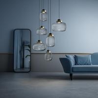 Modern Glass Pendant Lights Lampshade Pendant Lamp Restaurant Kitchen Hanging Lamp Light Fixture Lustre de Led Ceiling luminaire