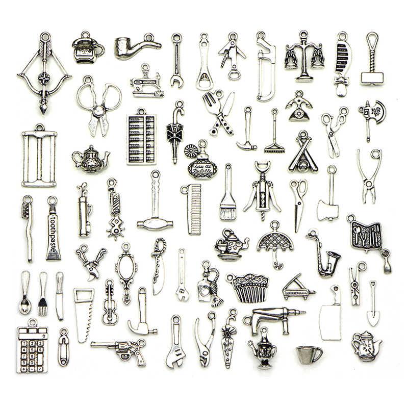 Mix budowanie żywych narzędzi transport srebrne złącza Charms dla Diy bransoletka kolczyk wisiorek akcesoria do wyrobu biżuterii