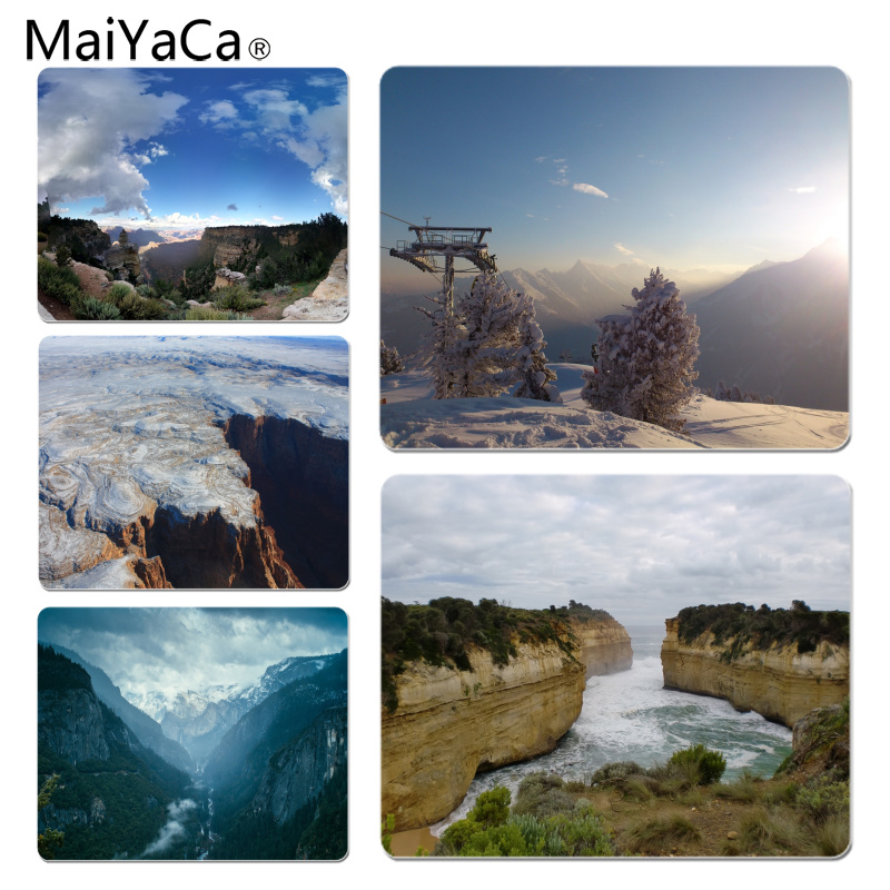MaiYaCa Winter Grand Canyon Customized laptop Gaming mouse pad Size for 18x22x0.2cm Gaming Mousepads