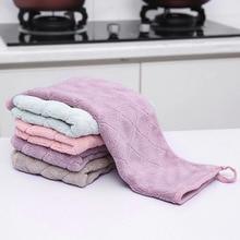 Двухслойное утолщенное кухонное полотенце для мытья посуды, полотенце для мытья пола, Бытовые аксессуары для уборки, впитывающая воду швабра, 1 шт