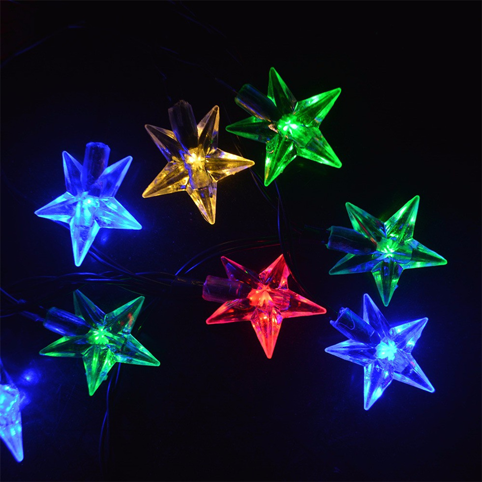 Christmas 20 LED Outdoor String Light Garden Christmas Bell Head Fairy Lamp Solar Energy Dropshipping #1101