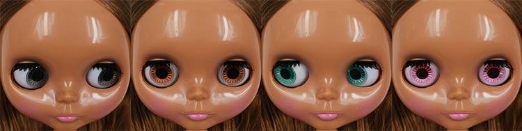 Коричневые волосы Обнаженная кукла blyth черная кожа фабрика кукла NNNkh