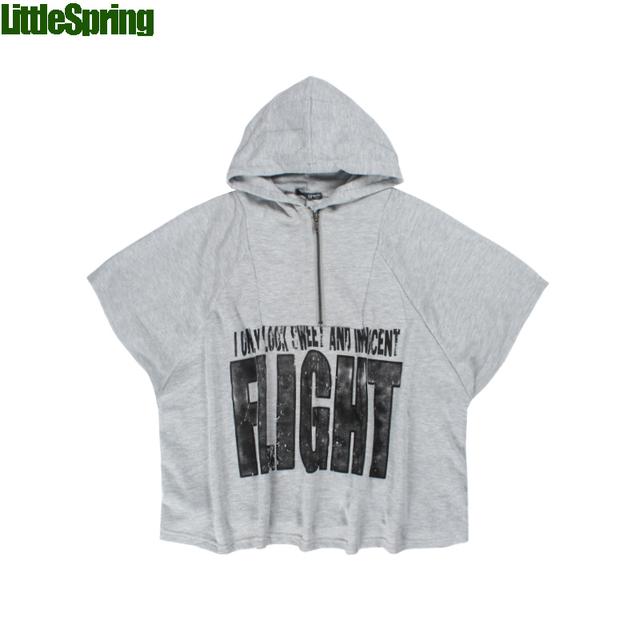 """LittleSpring Retail niños Camisetas En stock! niños """"refugiados» patrones de letras Camisetas Moda con capucha camiseta"""