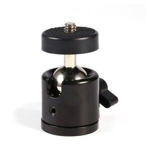 """Image 2 - Mini rótula de bola de 1/4 """"Para rótula de trípode de cámara para Nikon/Canon cámara DSLR Dsr soporte de montaje para cámara 1/4"""" a 3/8 """"tornillo de montaje"""