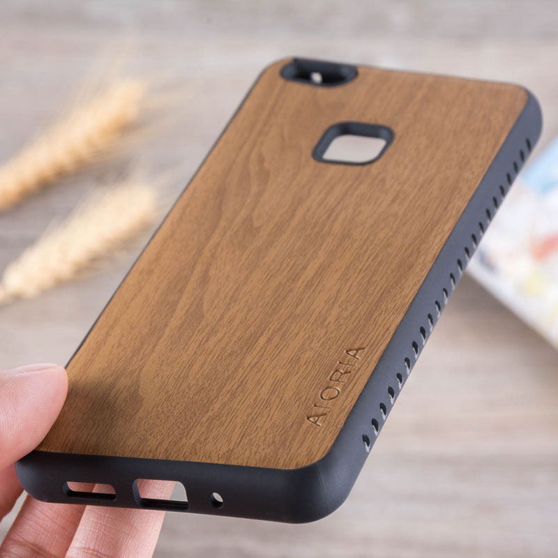 Wooden Design Case For Huawei P10 Lite Soft TPU Silicone &Amp; Wood PU Leather Skin Covers Coque Fundas For Huawei P10 Lite