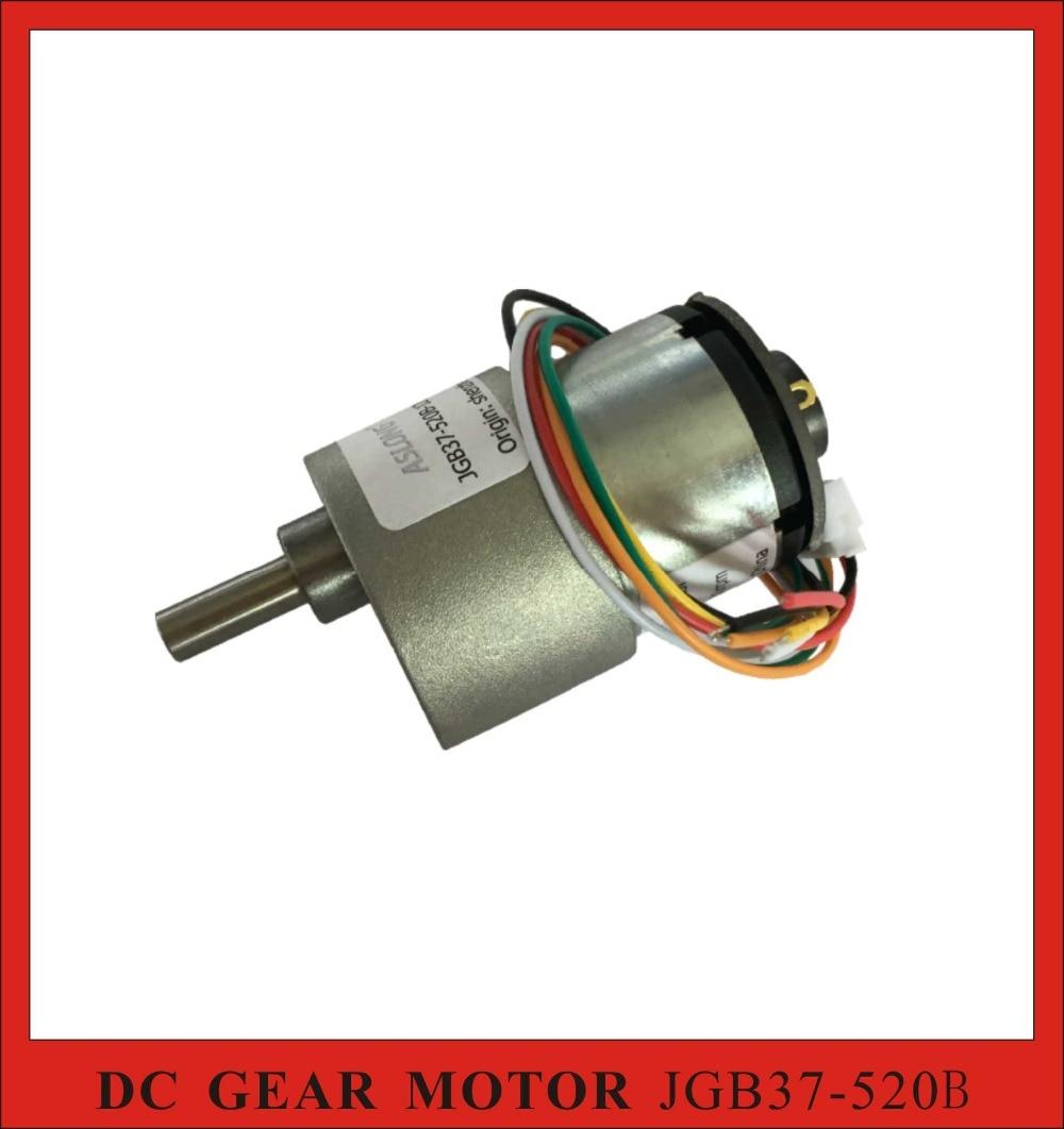 3pcs/Lot! ASLONG JGB37 520B 12V DC Geared Motor with Encoder Mini DC Gearbox Motor