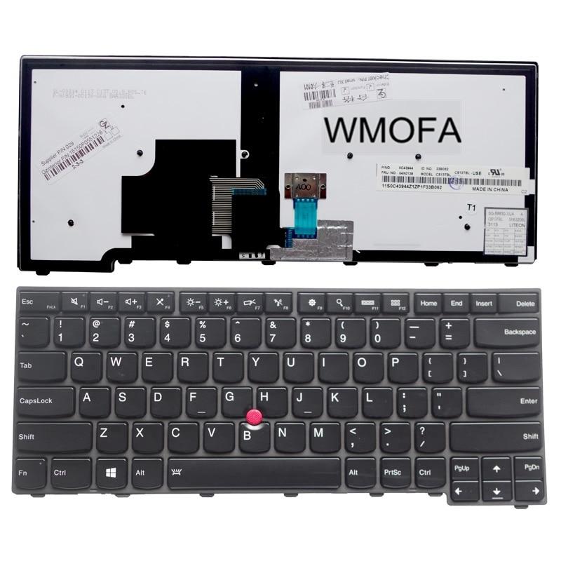 US Backlight Black New English laptop keyboard For Lenovo For IBM T440S T440P T440 E431 T431S E440 L440 With pointing sticks new keyboard for dell studio 1745 us version black laptop keyboard with backlight free shipping