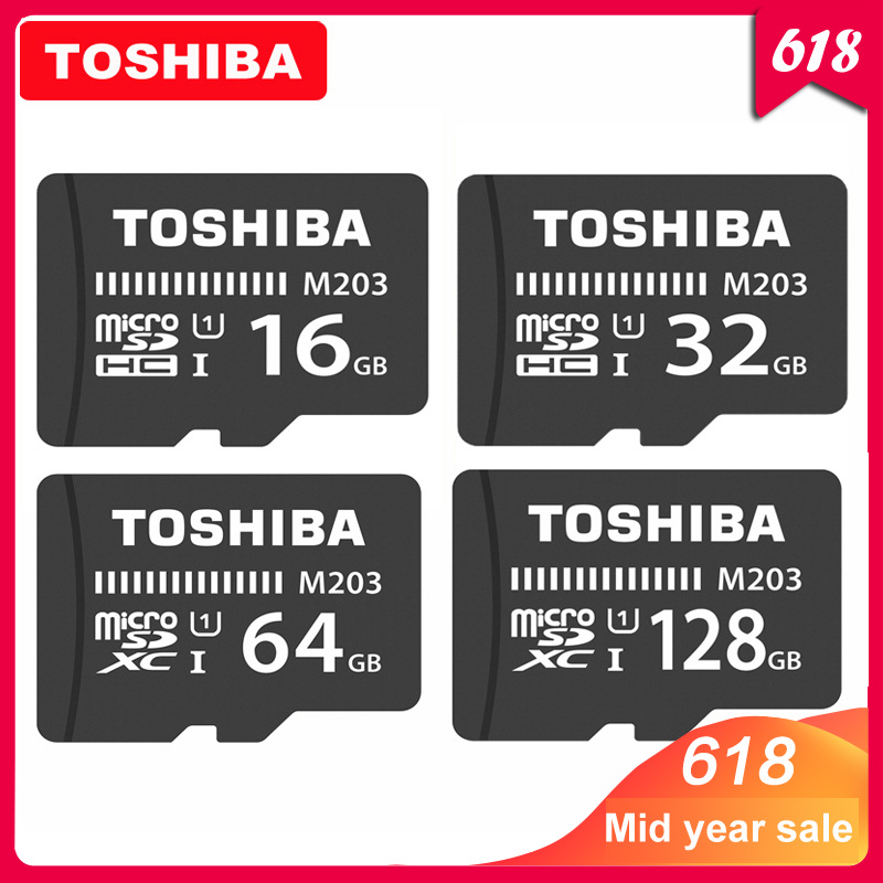 TOSHIBA Micro SD Card M203 Class 10 16GB 32GB 64GB 128GB Memory Card C10 Mini SD Card SDHC SDXC UHS I TF Card For Smartphone/TV-in Micro SD Cards from Computer & Office
