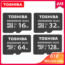 TOSHIBA Micro SD Card M203 Class 10 16GB 32GB 64GB 128GB Memory Card C10 Mini SD Card SDHC SDXC UHS-I TF Card For Smartphone/TV memory card toshiba m302 micro sd card 128gb class 10 sdxc uhs 1 u3 90mb s real capacity for android phone