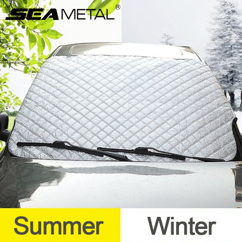 Car Styling Car Window Sunshade Front Windshield Cover Snow Proof Sun Shade Covers Anti Uv Auto Accessories Four Seasons Curtain