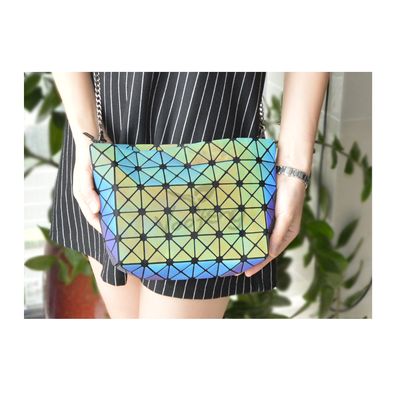 Colorful laser new fashion ling foldable reflective female bag free shipping