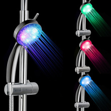 Colorful LED Shower Head 7-Color Changing Shower temperature control three gradient  shower head led light shower hydropower square led color changing shower head for bathroom