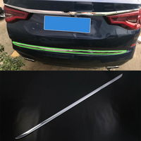 Car Accessories Exterior Decoration Stainless Steel Rear Tail Gate Molding Cover Trim For BMW X1 2018 Car Styling