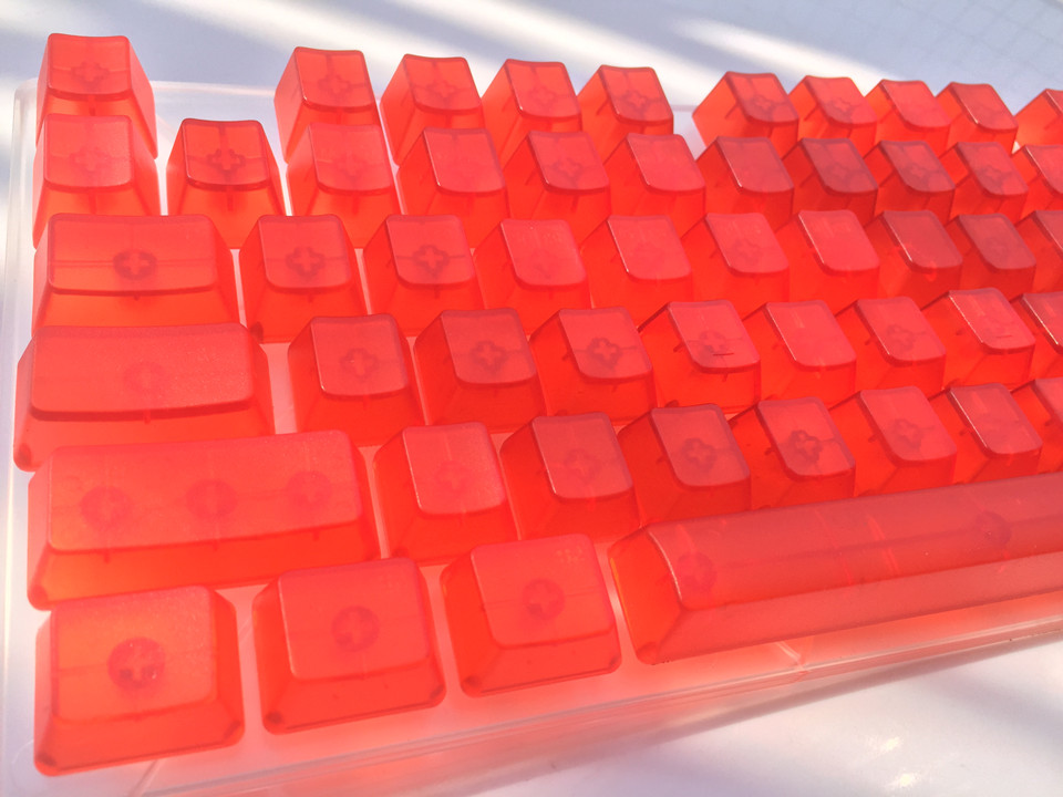 цена на 104 Keys Translucidus keycap Transparent ABS Blank Keycaps Keycaps For OEM Cherry MX Switches Mechanical Gaming Keyboard