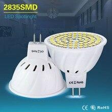 Holofote led mr16 ac 220v 4w 6w 8w, lâmpada led ac/dc 12v 24v gu5.3 mr 16 smd 2835 iluminação doméstica branca/quente branca