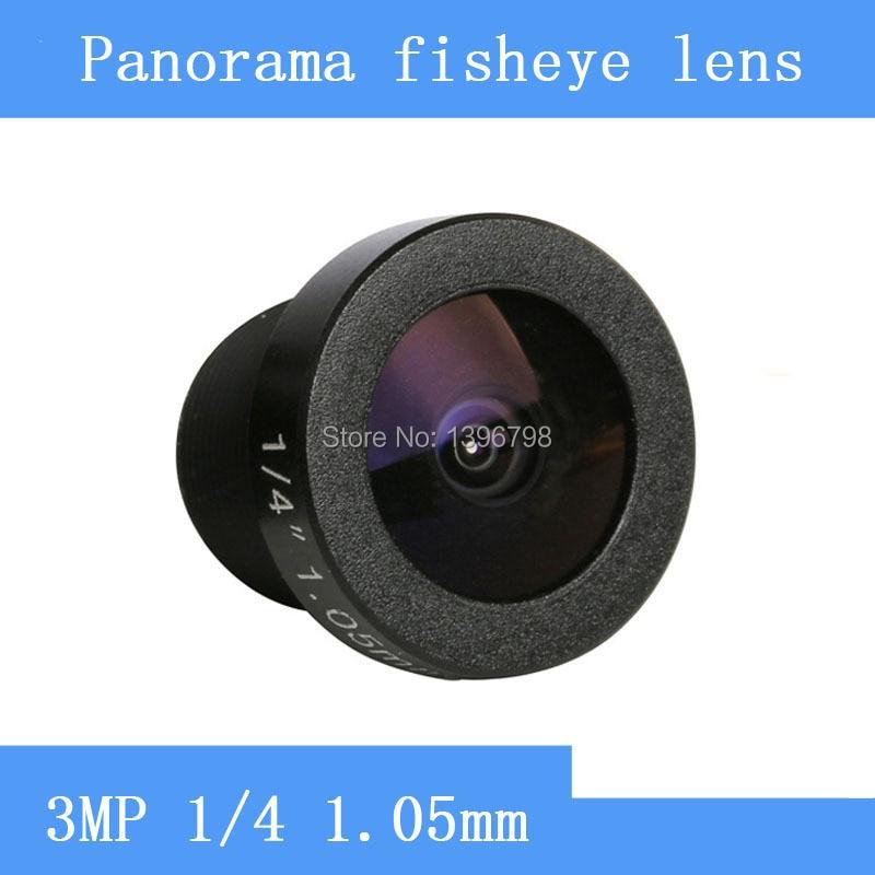 PU`Aimetis 185 degrees wide-angle CCTV Lens 3MP 1/4 HD 360 panoramic fisheye lens surveillance camera Video Cam