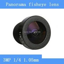 185 degrees wide-angle CCTV Lens 3MP 1/4 HD 360 panoramic fisheye lens surveillance camera Video Cam