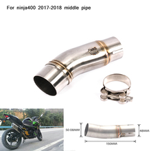 Motorcycle Slip On for ninja400 2017 2018 Stainless steel Middle Connecting Pipe Exhaust System